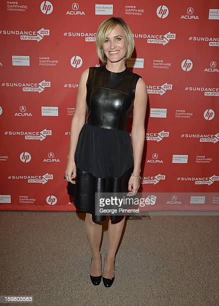 Actress Judith Godreche attends the 'Stoker' premiere at Eccles Center Theatre during the 2013 Sundance Film Festival on January 20 2013 in Park City...