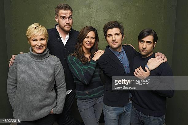 Actress Judith Godreche director/writer Patrick Brice producer Naomi Scott actor/executive producer Adam Scott and actor Jason Schwartzman from 'The...
