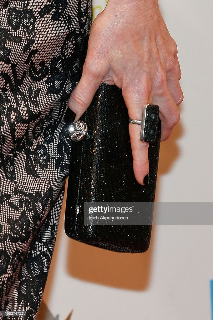 Actress Judith Hoag (clutch and ring detail) attends the 14th Annual Women's Image Network Awards at Paramount Theater on the Paramount Studios lot on December 12, 2012 in Hollywood, California.
