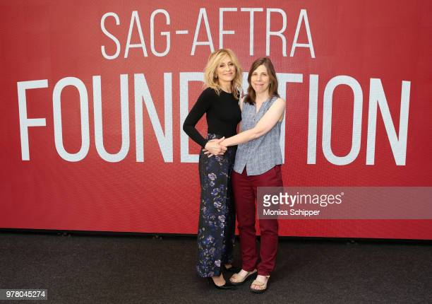 Actress Judith Light and Cynthia Littleton attend SAGAFTRA Foundation Conversations 'The Assassination Of Gianni Versace American Crime Story' at The...