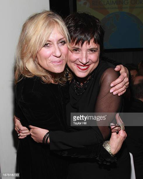 Actress Judith Light and playwright Eve Ensler attend the Global Green USA 13th Annual Sustainable Design Awards at Three Sixty on December 3 2012 in...
