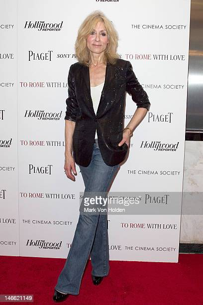 Actress Judith Light attendsThe Cinema Society With The Hollywood Reporter Piaget And Disaronno screening Of To Rome With Love at the Paris Theatre...