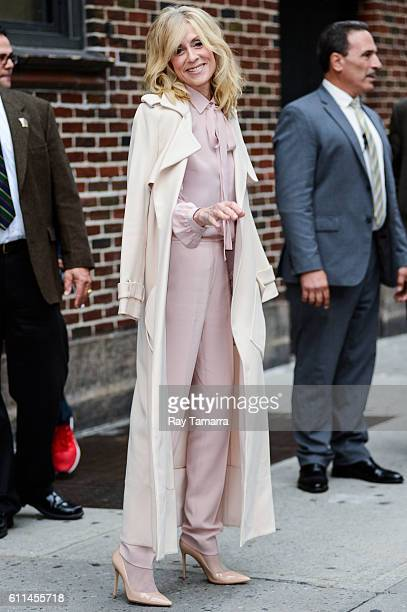 Actress Judith Light leaves 'The Late Show With Stephen Colbert' taping at the Ed Sullivan Theater on September 29 2016 in New York City