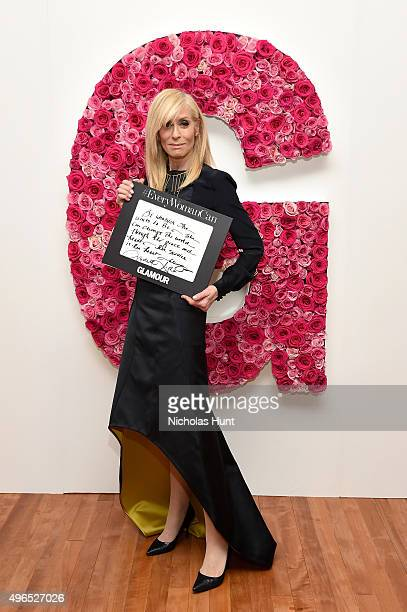 Actress Judith Light poses for a photo at the backstage inspiration wall at the 2015 Glamour Women of the Year Awards at Carnegie Hall on November 9...