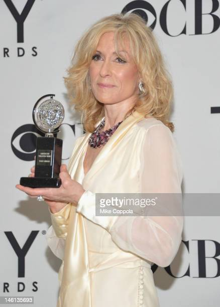 Actress Judith Light poses with her award at the 66th Annual Tony Awards at The Beacon Theatre on June 10 2012 in New York City