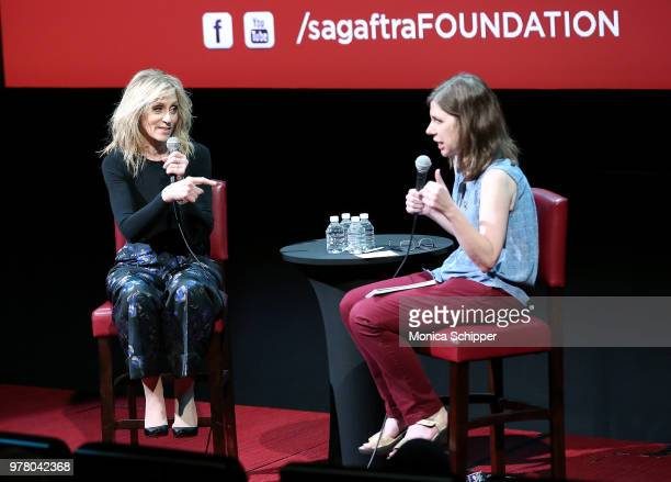 Actress Judith Light speaks with Cynthia Littleton on stage during SAGAFTRA Foundation Conversations 'The Assassination Of Gianni Versace American...