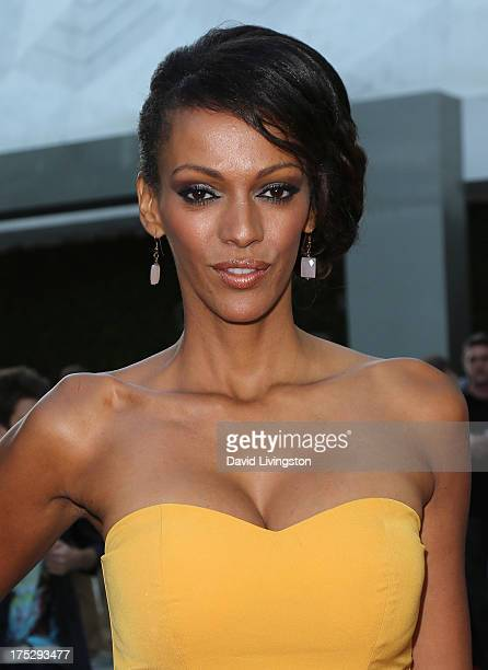 Actress Judith Shekoni attends a screening of Magnolia Pictures' 'I Give It a Year' at ArcLight Hollywood on August 1 2013 in Hollywood California