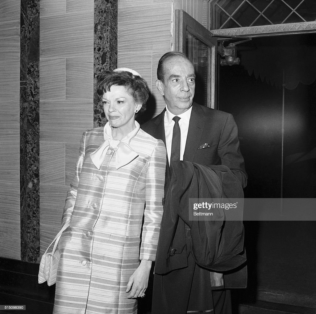 Actress Judy Garland and her former husband, film director