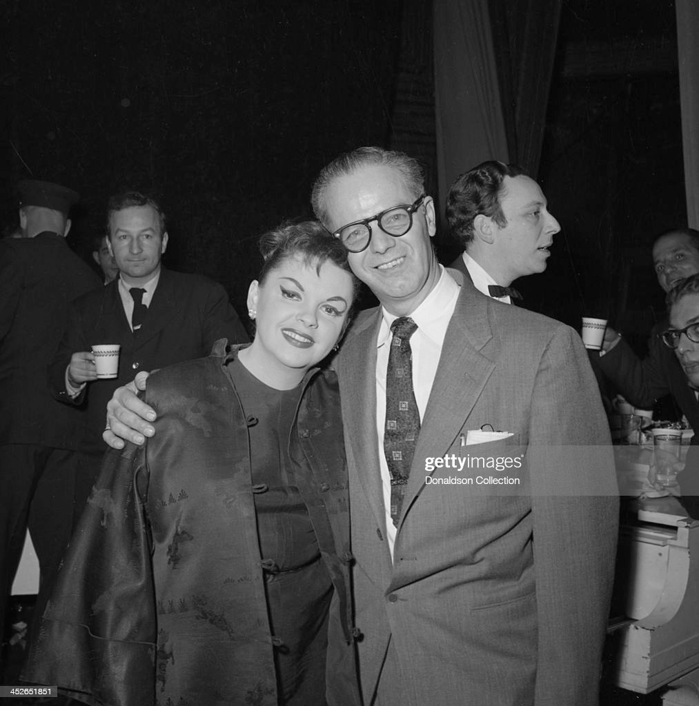 Actress Judy Garland attends the Jerry Lewis Variety Show at the RKO ...