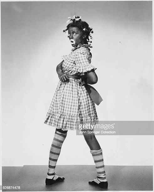 Actress Judy Garland in Blackface