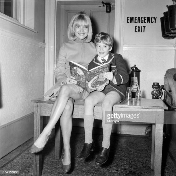 Actress Judy Geeson star of the 'Newcomers' and 'To Sir With Love' went back to her old school the Corona School to present prizes Amongst those she...