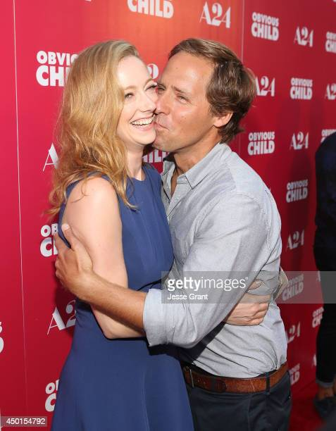 Actress Judy Greer and Nat Faxon attend the Screening of A24's Obvious Child at the ArcLight Hollywood on June 5 2014 in Hollywood California