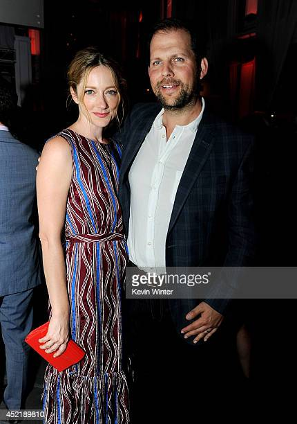 Actress Judy Greer and Nick Grad President Original Programming for FX Networks pose at the after party for the premiere screening's of FX Network's...