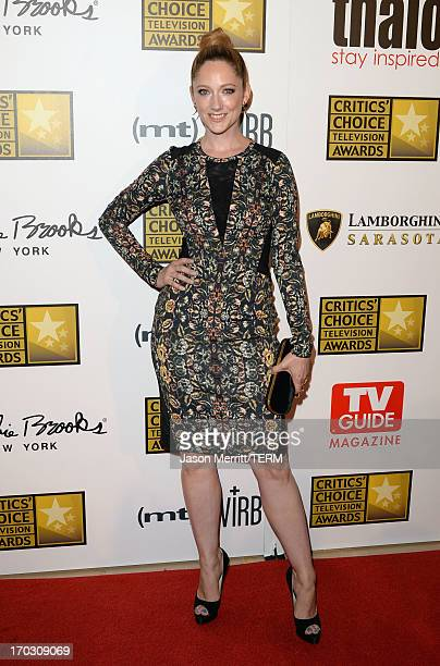 Actress Judy Greer arrives at Broadcast Television Journalists Association's third annual Critics' Choice Television Awards at The Beverly Hilton...