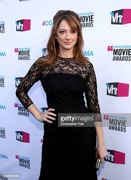 Actress Judy Greer arrives at the 17th Annual Critics' Choice Movie Awards held at The Hollywood Palladium on January 12 2012 in Los Angeles...
