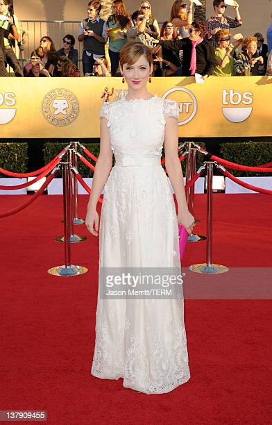 Actress Judy Greer arrives at the 18th Annual Screen Actors Guild Awards at The Shrine Auditorium on January 29 2012 in Los Angeles California