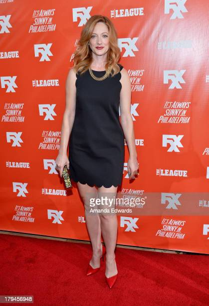 Actress Judy Greer arrives at the FXX Network launch party featuring the season premieres of It's Always Sunny In Philadelphia and The League at Lure...