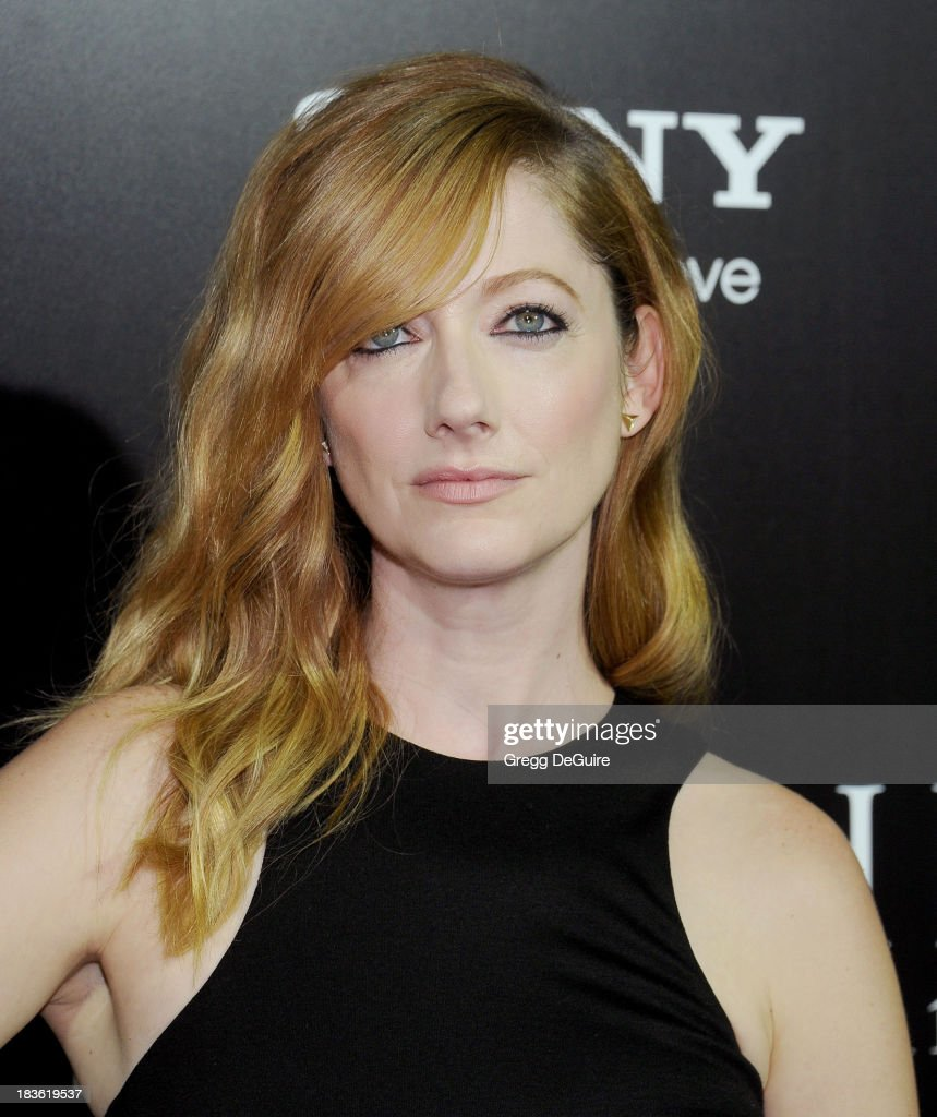 Actress Judy Greer arrives at the Los Angeles premiere of 'Carrie' at ArcLight Hollywood on October 7, 2013 in Hollywood, California.