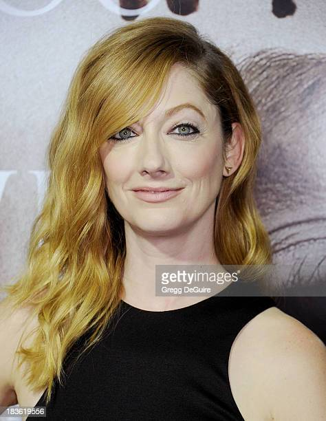 Actress Judy Greer arrives at the Los Angeles premiere of Carrie at ArcLight Hollywood on October 7 2013 in Hollywood California