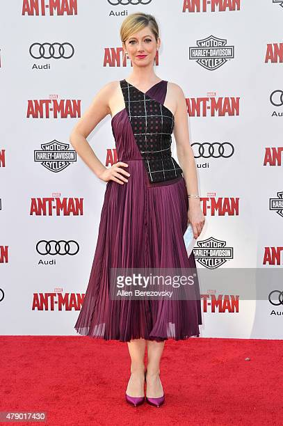 Actress Judy Greer arrives at the Los Angeles Premiere of Marvel Studios 'AntMan' at Dolby Theatre on June 29 2015 in Hollywood California