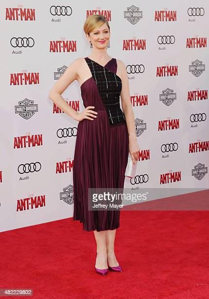 Actress Judy Greer arrives at the Los Angeles premiere of Marvel Studios 'Ant-Man' at Dolby Theatre on June 29, 2015 in Hollywood, California.