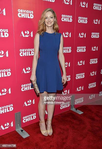 Actress Judy Greer arrives at the Los Angeles special screening of A24's Obvious Child at the ArcLight Hollywood on June 5 2014 in Hollywood...