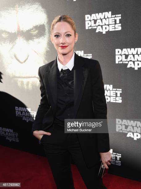 Actress Judy Greer arrives at the premiere of 20th Century Fox's Dawn Of The Planet Of The Apes at Palace Of Fine Arts Theater on June 26 2014 in San...