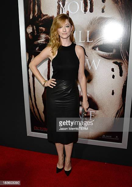 Actress Judy Greer arrives at the premiere of MetroGoldwynMayer Pictures Screen Gems' Carrie at ArcLight Cinemas on October 7 2013 in Hollywood...