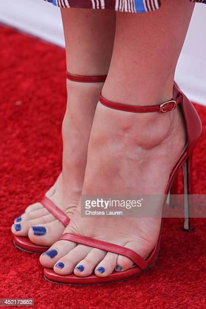 Actress Judy Greer arrives at the premieres for FX's new series' Married and You're The Worst at Paramount Studios on July 14 2014 in Hollywood...