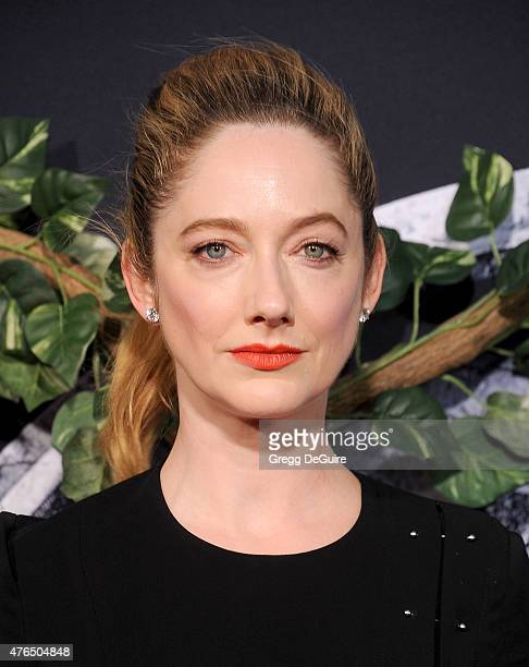 Actress Judy Greer arrives at the World Premiere of Jurassic World at Dolby Theatre on June 9 2015 in Hollywood California