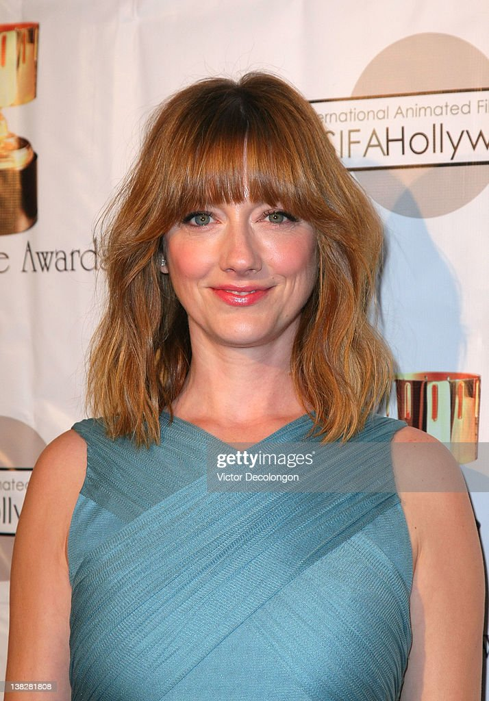 Actress Judy Greer arrives for the 39th Annual Annie Awards at Royce Hall, UCLA on February 4, 2012 in Westwood, California.