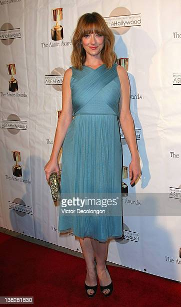 Actress Judy Greer arrives for the 39th Annual Annie Awards at Royce Hall UCLA on February 4 2012 in Westwood California