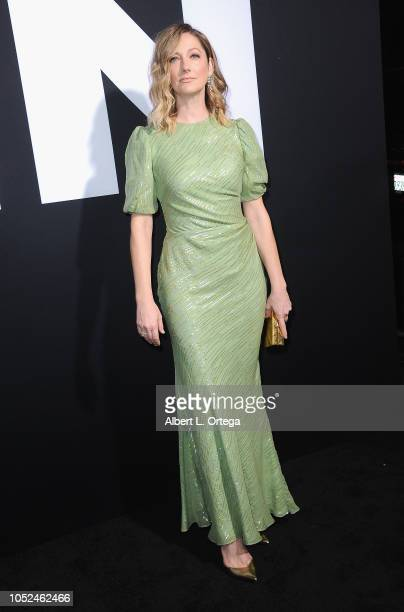 Actress Judy Greer arrives for the Universal Pictures' 'Halloween' Premiere held at TCL Chinese Theatre on October 17 2018 in Hollywood California