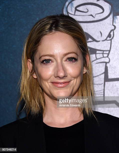 Actress Judy Greer arrives sat the premiere of truTV's Those Who Can't at The Wilshire Ebell Theatre on January 28 2016 in Los Angeles California