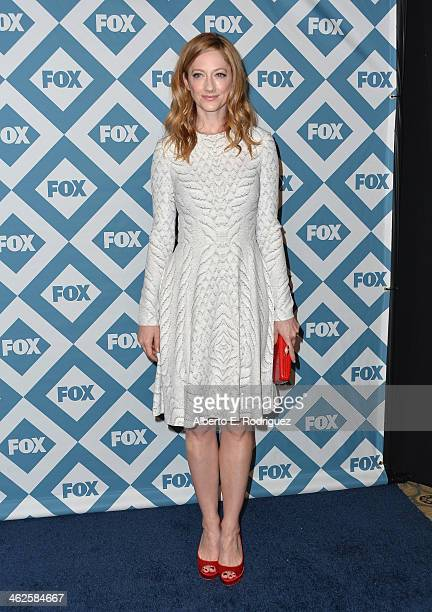 Actress Judy Greer arrives to the 2014 Fox AllStar Party at the Langham Hotel on January 13 2014 in Pasadena California