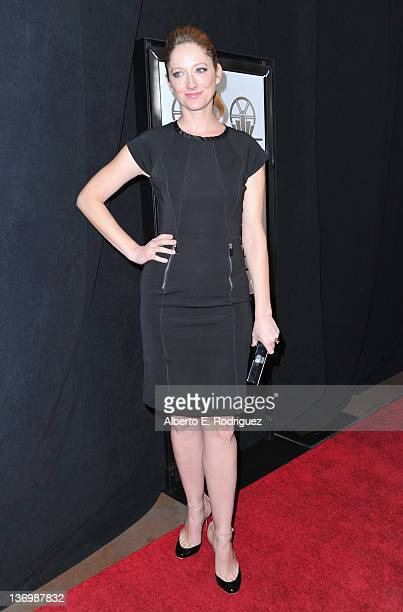 Actress Judy Greer arrives to the 37th Annual Los Angeles Film Critics Association Awards at InterContinental Hotel on January 13 2012 in Century...