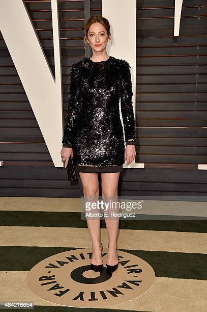 Actress Judy Greer attends the 2015 Vanity Fair Oscar Party hosted by Graydon Carter at Wallis Annenberg Center for the Performing Arts on February...