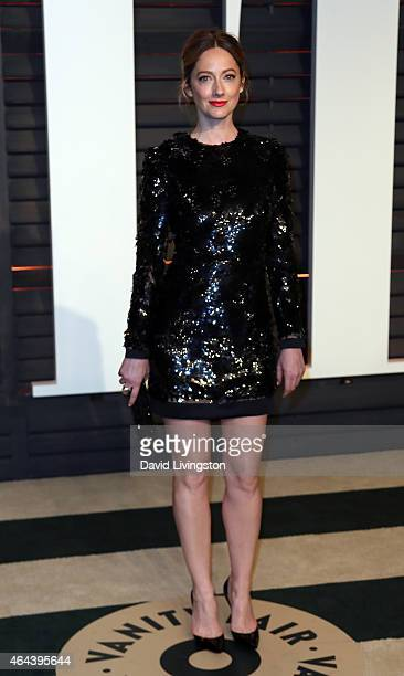 Actress Judy Greer attends the 2015 Vanity Fair Oscar Party hosted by Graydon Carter at the Wallis Annenberg Center for the Performing Arts on...