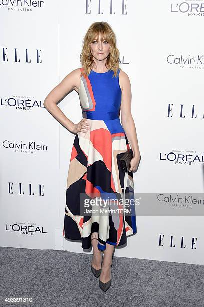 Actress Judy Greer attends the 22nd Annual ELLE Women in Hollywood Awards at Four Seasons Hotel Los Angeles at Beverly Hills on October 19 2015 in...
