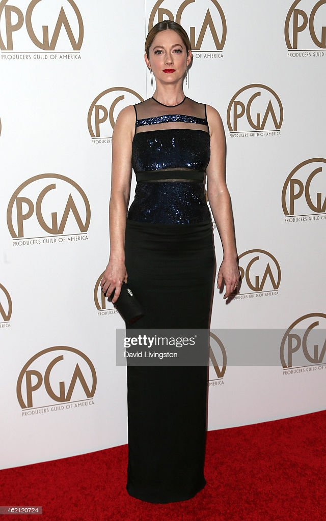 Actress Judy Greer attends the 26th Annual Producers Guild of America Awards at the Hyatt Regency Century Plaza on January 24, 2015 in Los Angeles, California.