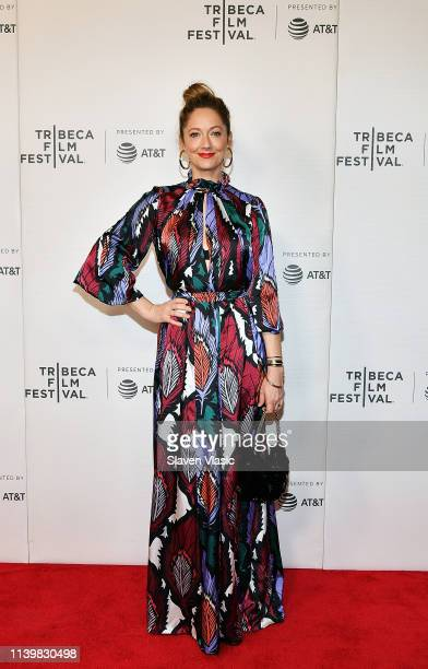 """Actress Judy Greer attends the premiere for """"Buffaloed"""" during 2019 Tribeca Film Festival at Regal Cinema Battery Park on April 27, 2019 in New York..."""