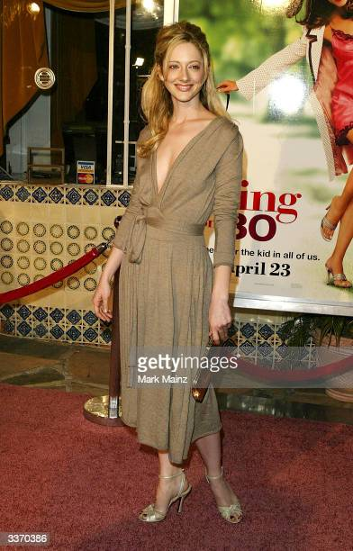 "Actress Judy Greer attends the premiere of the film ""13 Going on 30"" at the Mann Village Theater on April 14, 2004 in Los Angeles, California."