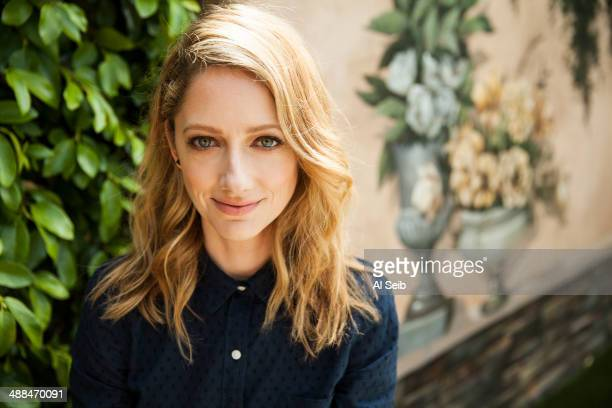 Actress Judy Greer is photographed for Los Angeles Times on April 18 2014 in Los Angeles California PUBLISHED IMAGE