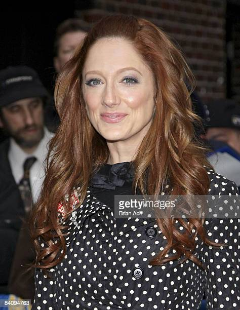 Actress Judy Greer visits Late Show with David Letterman on March 24 at the Ed Sullivan Theatre in New York City
