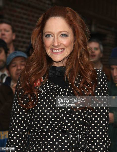 Actress Judy Greer visits The Late Show With David Letterman at the Ed Sullivan Theater on March 24 2008 in New York City