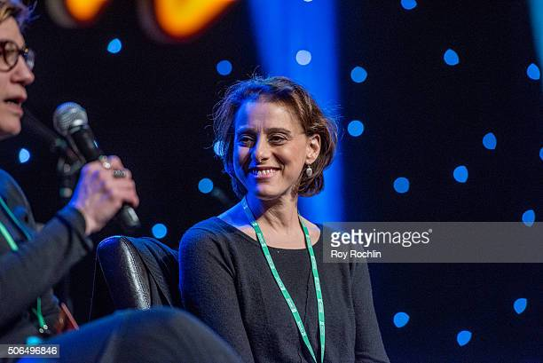 Actress Judy Kuhn attends BroadwayCon 2016 at the New York Hilton Midtown on January 23 2016 in New York City