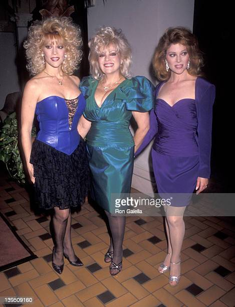 Actress Judy Landers actress Audrey Landers and their mother Ruth Landers attend Audrey Landers Opening Night Singing Engagement on March 5 1991 at...