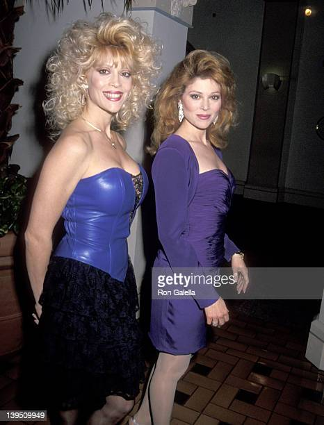 Actress Judy Landers and actress Audrey Landers attend Audrey Landers Opening Night Singing Engagement on March 5 1991 at the Hollywood Roosevelt...