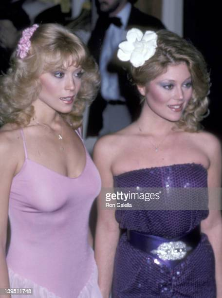 Actress Judy Landers and actress Audrey Landers attend the 38th Annual Golden Globe Awards on January 31 1981 at Beverly Hilton Hotel in Beverly...
