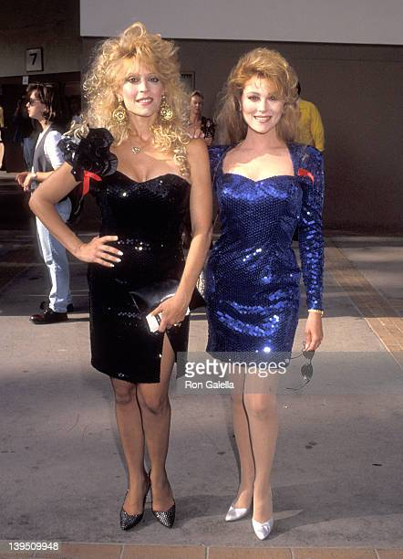 Actress Judy Landers and actress Audrey Landers attend the Ninth Annual MTV Video Music Awards on September 9 1992 at UCLA's Pauley Pavilion in...